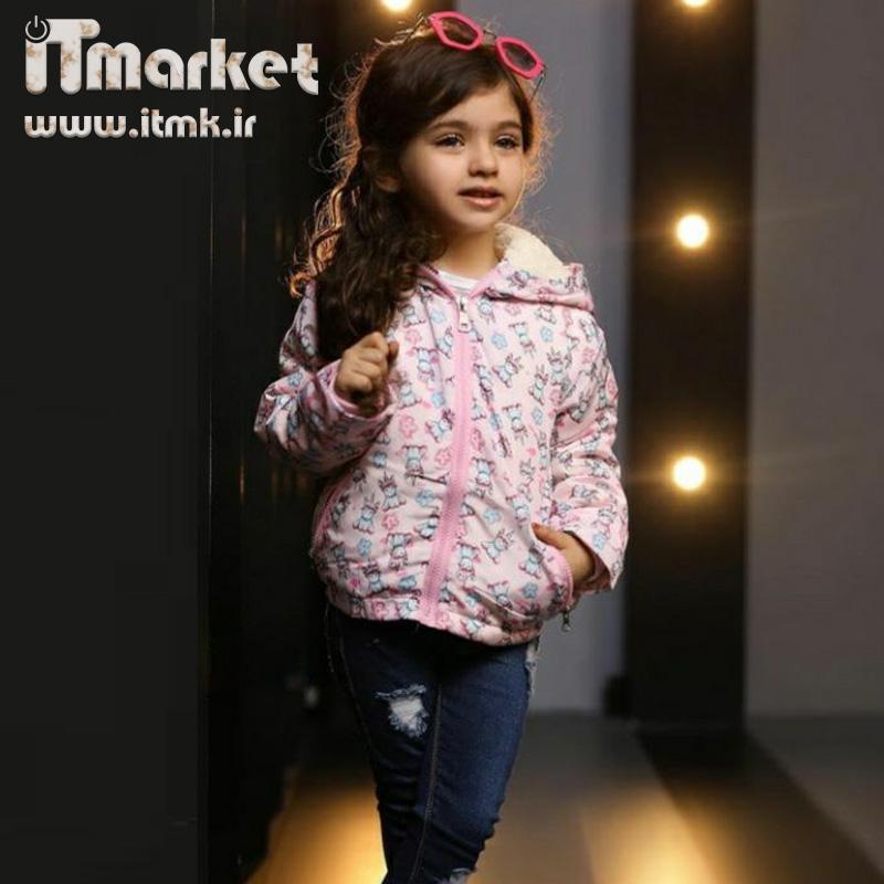 کاپشن صورتی دخترانه مناسب برای گروه سنی 2 تا 7 سال