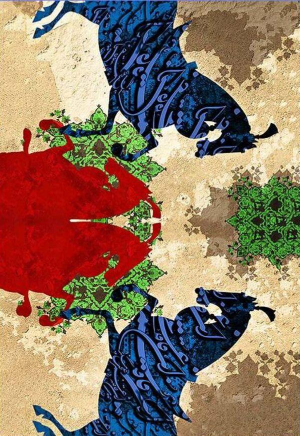 فرش ماشینی 1000 شانه فانتزی چاپی کاشان - کد 1233
