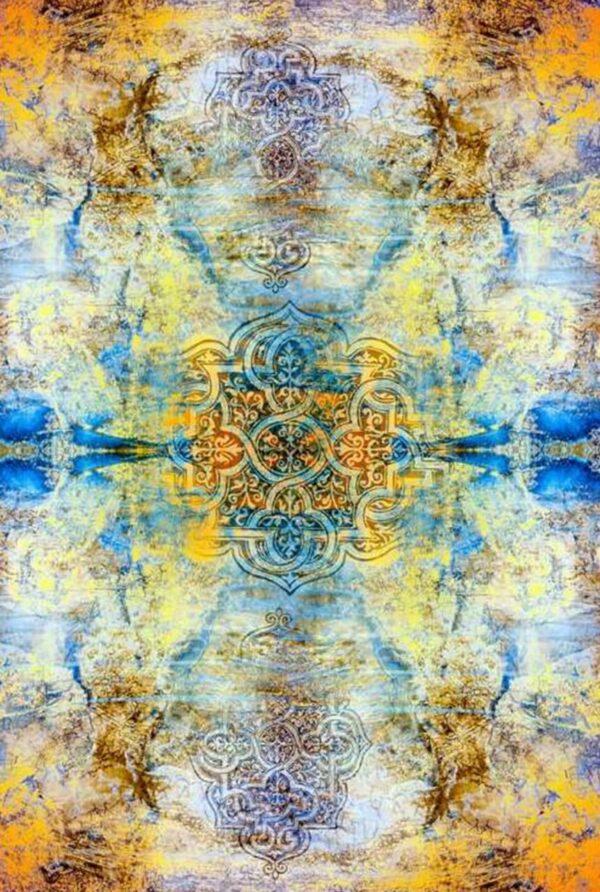 فرش ماشینی 1000 شانه فانتزی چاپی کاشان - کد 1234