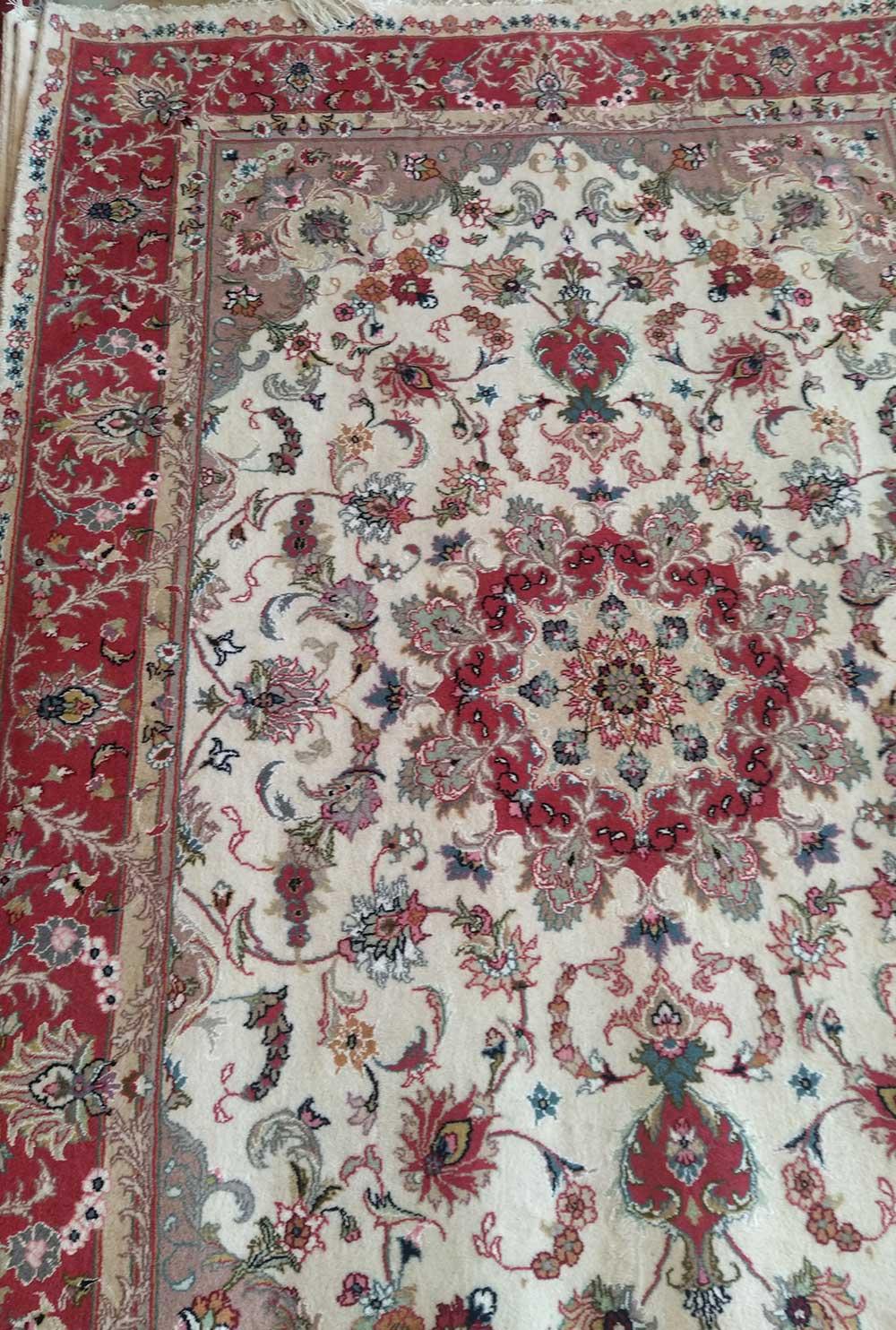 فرش دستبافت شش متری کاشمر گل ابریشم
